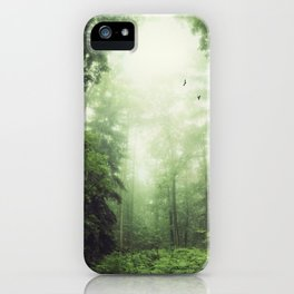 German Jungle - Forest in Morning Mist iPhone Case