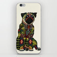 pug love ivory iPhone & iPod Skin