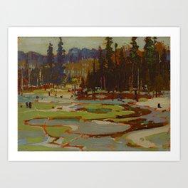 Tom Thomson Portage, Ragged Lake 1917 Canadian Landscape Artist Art Print