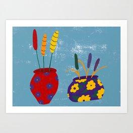 Rainbow Vases Art Print