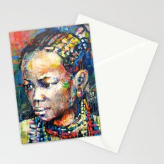She - portrait of a beautiful woman Stationery Cards
