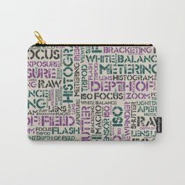 Photography Terms Word Pattern Carry-All Pouch