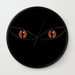 Black Cat staring into your soul Wall Clock