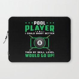 Pool Snooker Billiard 8 Ball Billiards Funny Gift Laptop Sleeve