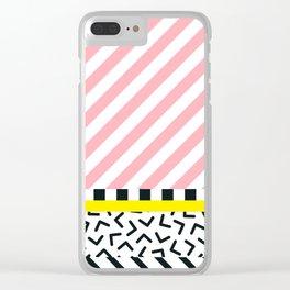 Memphis pattern 84 Clear iPhone Case
