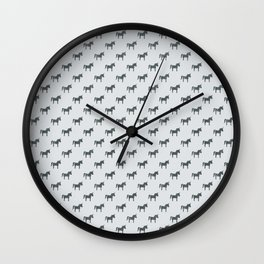 Magical Unicorn Party Pattern Wall Clock