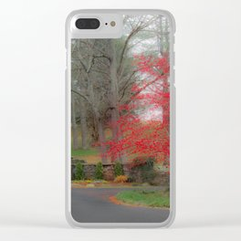 Misty Christmas Clear iPhone Case