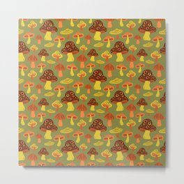 Mushroom Print Metal Print