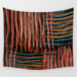 Autumn Weave abstract watercolor  Wall Tapestry
