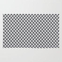Grey weaving pattern Rug