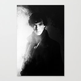 AMAZING SHERLOCK - BLACK & WHITE Canvas Print