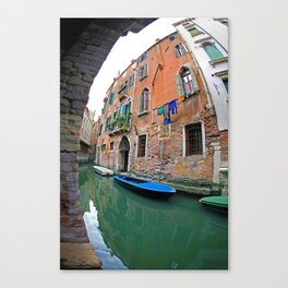 Small Canal of Venice Canvas Print