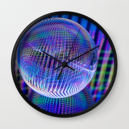 Criss Cross lights in the ball Wall Clock