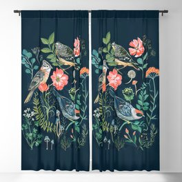 Birds Garden Blackout Curtain