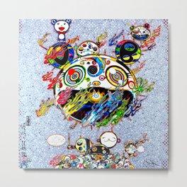 Takashi Murakami with Signature - Chaos Print Metal Print