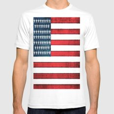 Patriot MEDIUM White Mens Fitted Tee