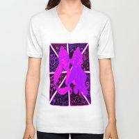 ariana grande V-neck T-shirts featuring Ariana Grande Ft. Iggy Azalea by Glopesfirestar