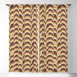 Retro 70's wave print Blackout Curtain