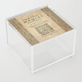 Shakespeare, Hamlet 1603 Acrylic Box