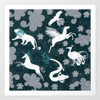 constellation Art Prints featuring  Constellation  by Liluna