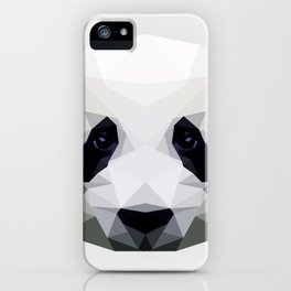 Polygon Panda | Abstract Triangle Art Work iPhone Case