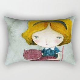 Alice In Watercolorland Rectangular Pillow