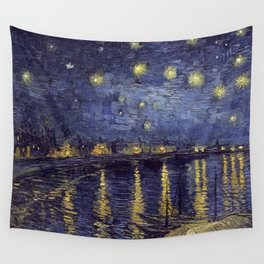 Vincent Van Gogh Starry Night Over The Rhone Wall Tapestry
