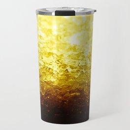 Golden Yellow Ombre Crystals Travel Mug