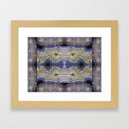 Royal Aztec Lace Agate Framed Art Print