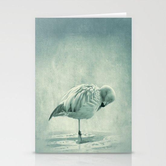 Flamingo Blues Stationery Cards