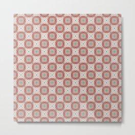 Coral Geometric Pattern # 2 Metal Print