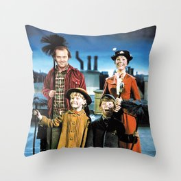 Jack Torrance in Mary Poppins Throw Pillow