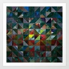 Colour Crystallization Art Print