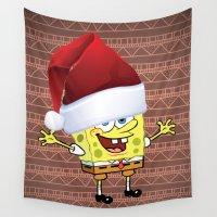 spongebob Wall Tapestries featuring Spongebob Celebration by ShineShop