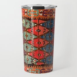 Aksaray  Antique Turkish Cappadocian Kilim Print Travel Mug