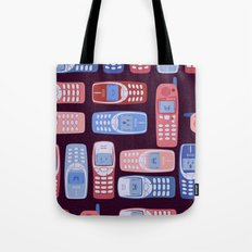 Vintage Cellphone Reactions Tote Bag