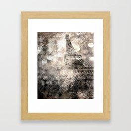 Under the Eiffel Tower Framed Art Print
