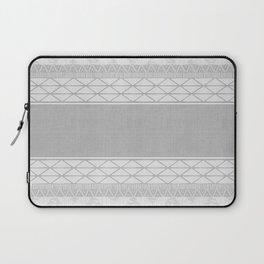 African Wax Print in Grey Laptop Sleeve