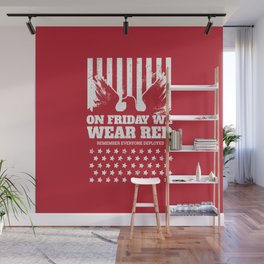 We Wear Red Friday Eagle Wall Mural