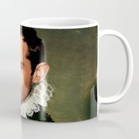 law Mugs featuring Jude Law by Kimberley Britt
