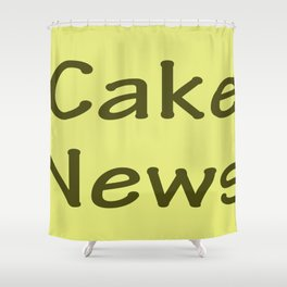 Cake News - Allusion to May in Salzburg Shower Curtain