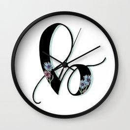 bachelor button Wall Clock