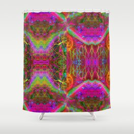 Techno Electric II Shower Curtain