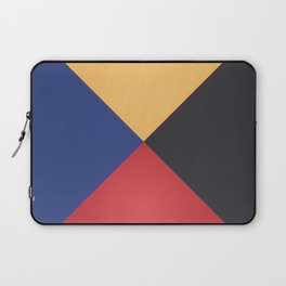 Primary Colors Triangles Laptop Sleeve