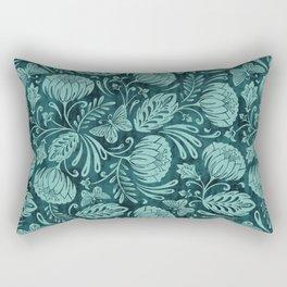 Arabella - Teal Rectangular Pillow
