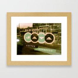Old City Java - mint green Framed Art Print