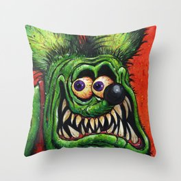 Rat Fink! Throw Pillow