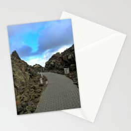 Lava Rocks at the Entrance to Iceland's Blue Lagoon (1) Stationery Cards