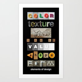 the elements of design Art Print