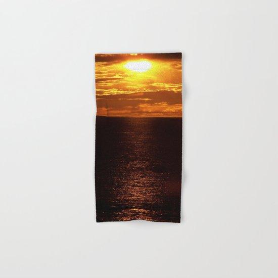 Golden Sunset on the Sea Hand & Bath Towel